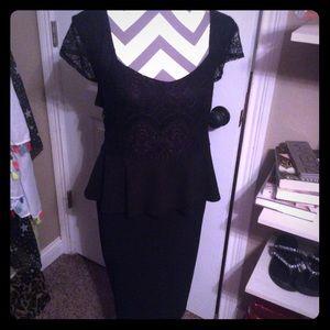 Lace peplum Little Black Dress